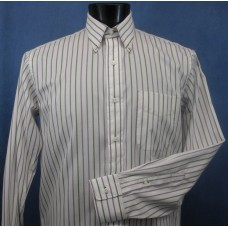 100% cotton purple and green stripe shirt