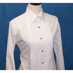 Women's Blend formal shirt with laydown collar and standard cuffs