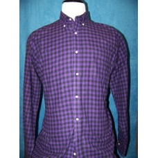 100% Cotton Purple & Black Flannel Long Sleeve Shirt