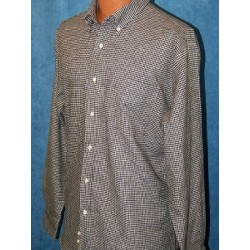 100% Cotton White & Black Flannel Long Sleeve Shirt